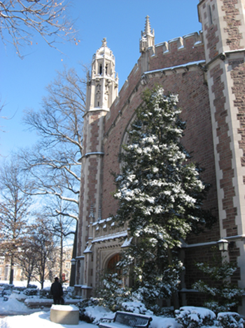 Graham Chapel, located in the center of the Danforth Campus