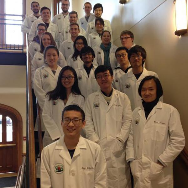 First-Year Chemistry Graduate Students Complete Safety Class, Earn their Lab Coats
