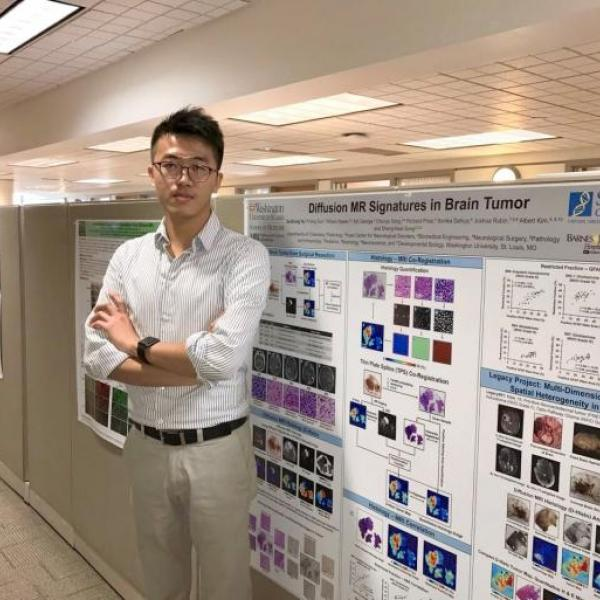 "Chemistry graduate student Ze-Zhong Ye's poster won ""best poster award"" from Siteman Cancer Center"