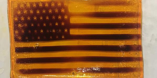American flag photopatterned into hydrogel